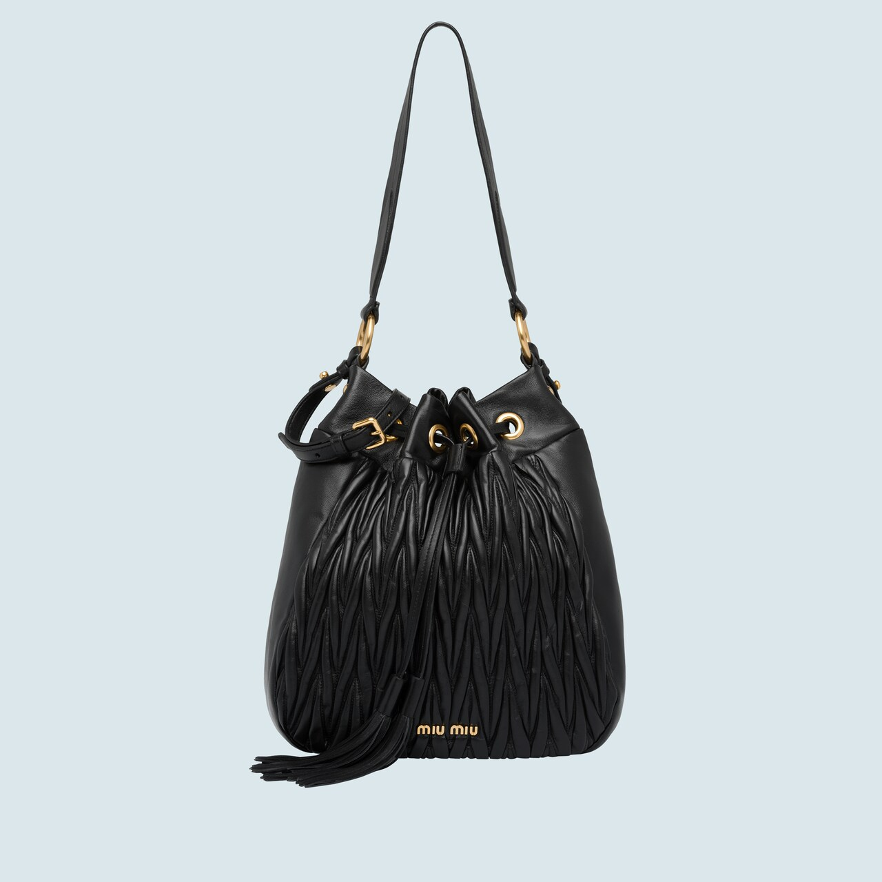 2b629aa1c6 Matelassé leather bucket bag